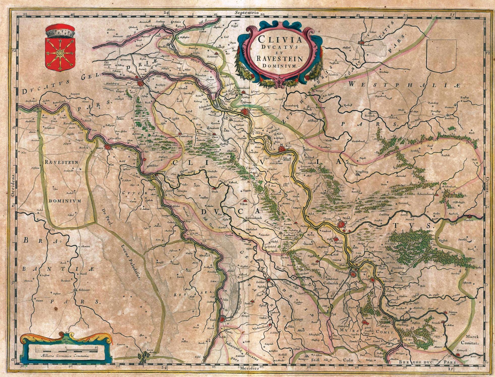 Karte Niederrhein.Ein Limes Am Rechten Niederrhein