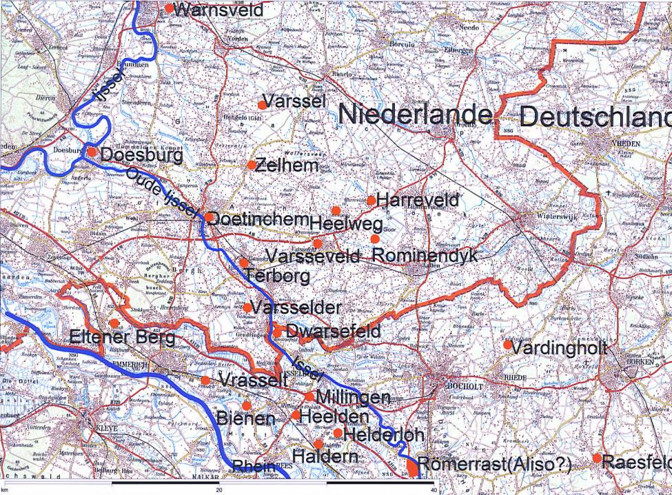 Varusschlacht Karte.Uberlieferung Durch Ortsbezeichnungen